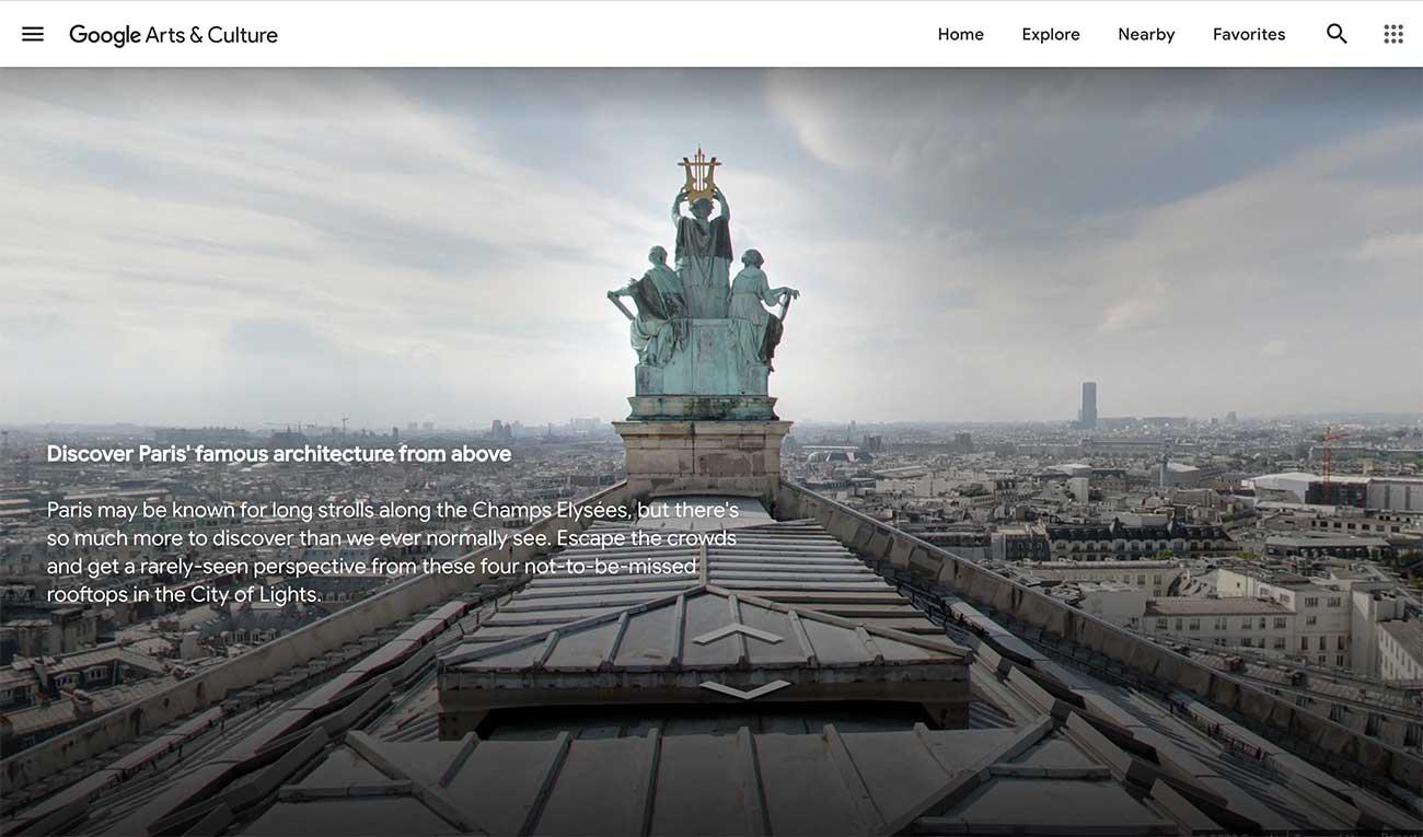 Google Arts & Culture: Five Rooftops in Paris